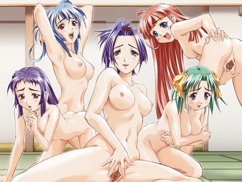 Ass anime hot lesbians sex black panty